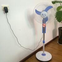 太阳能16寸电风扇内置蓄电池带LED灯户外家用12V可充电落地式