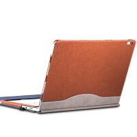 微软surface book保护套book增强版book2皮套13.5寸电脑包外壳 【book 13.3寸】商务棕-送