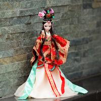 手工可儿可脱卸娃娃中国古装新娘花木兰红妆庆礼品摆件生日礼物