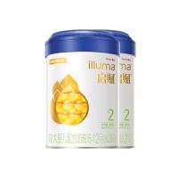 惠氏启赋(Wyeth illuma)2段奶粉 爱尔兰进口 6-12月较大婴儿配方 900克*2罐装