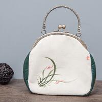 新款手绘女士斜挎包文艺色手工绘制女手拿包小巧个性口袋