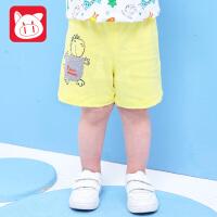 小猪班纳童装男小童短裤2018夏装新款婴儿儿童裤子男宝宝休闲裤