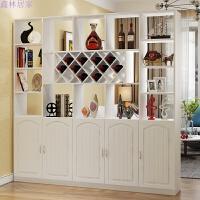 红酒柜玄关柜隔断柜现代简约门厅柜置物架客厅餐厅装饰柜屏风 暖白 3抽