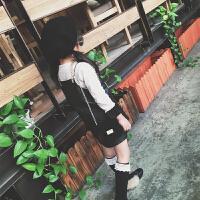七夕礼物儿童包包公主时尚包迷你单肩斜挎包链条零钱包女童包小女孩包美爆 黑色款式二