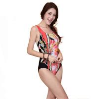 YINGFA英发 女士个性印花连体平角泳衣Y1719 舒适修身泳衣