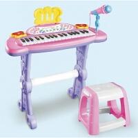 儿童玩具 电子琴音乐玩具启蒙教学女孩儿童早教益智礼盒装生日礼物 电子琴(粉色)