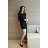 打底衫女秋冬季加厚百搭中长款时尚性感新款韩版显瘦修身毛衣