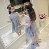 女童春装连衣裙新款儿童装夏季刺绣裙子韩版中大童洋气公主裙