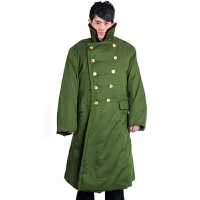 草绿大衣防寒多功能大衣马裤呢大衣 冬装保安服保暖大衣优质棉花 绿色 均码