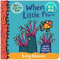 【预订】Where Is Little Fish  小鱼在哪里 英文原版进口儿童故事书 亲子早教互动 0-3岁低幼英语启蒙图书