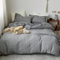 北欧秋冬床品色织拉绒四件套 磨毛套件棉暖绒加厚1.8m床上用品