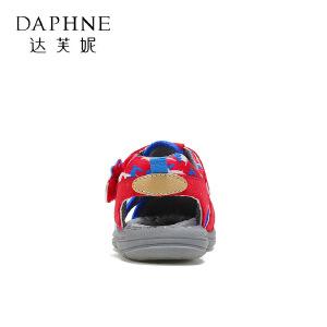 【达芙妮超品日 2件3折】鞋柜夏季新款中小童男童软底防滑沙滩鞋包头儿童凉鞋
