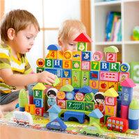 婴幼宝宝积木益智玩具3-6男孩女孩儿童1-2岁4多功能5木头拼装早教