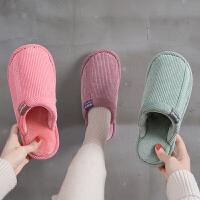 棉拖鞋男士冬季家居室内居家用室内防滑加厚保暖情侣毛拖鞋女秋冬