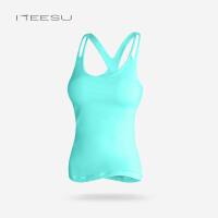 瑜伽服女秋冬健身房性感背心带胸垫运动跑步速干上衣显瘦