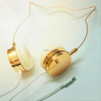 人气可爱少女玫瑰*耳朵耳机安卓苹果手机线控通话头戴式耳机女 1 套餐一