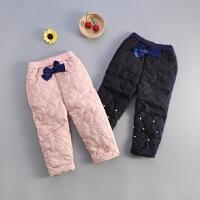 童装秋冬装宝宝厚裤子女童1-3-4岁女童加绒外裤婴幼儿长裤可开档