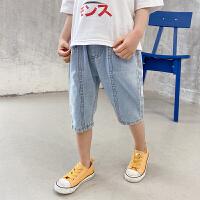 儿童牛仔短裤夏季童装中大童休闲中裤男童裤子