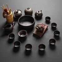茶具套装家用喝茶紫砂功夫茶具简约泡茶陶瓷茶壶盖碗茶杯整套