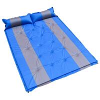 捷�N 户外双人自动充气垫 自带充气枕头防潮加宽加厚帐篷垫子 充气床垫 蓝色升级款