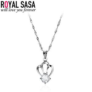 皇家莎莎Royalsasa韩国流行时尚款925银吊坠 皇冠之选(赠送银链)