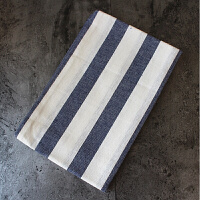 经典清爽蓝色条纹格子餐布餐垫餐巾茶巾盖巾美食拍摄背景布 40*60cm
