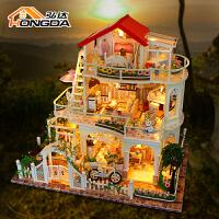 手工制作拼装大型创意房子模型生日礼物diy小屋天长地久别墅