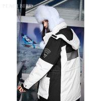 太平鸟白色中长款工装羽绒服女2019冬季新款反季韩版宽松加厚外套