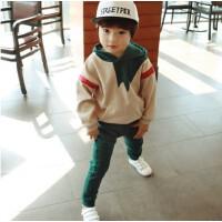 儿童卫衣套装2018春季新款韩版男童纯棉运动长裤中大童洋气套