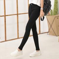春季高腰铅笔长裤显瘦休闲女士裤子黑色外穿打底裤小脚裤