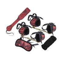 情趣用品sm玩具 女用手铐眼罩手铐手拍子捆绑束缚另类性刑具ZXQ 新款套装【五米绳的】