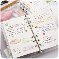活页记事手帐本 韩国创意手账本 方格笔记本子旅行网格本手帐文具