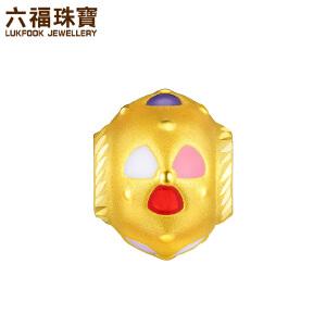 六福珠宝金饰魅力风车黄金珐琅转运珠串珠手绳定价L01A170121