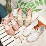 【毅雅】新款镂空凉鞋女夏韩版学生包头学院风罗马粗跟女中跟 YL7WO2547
