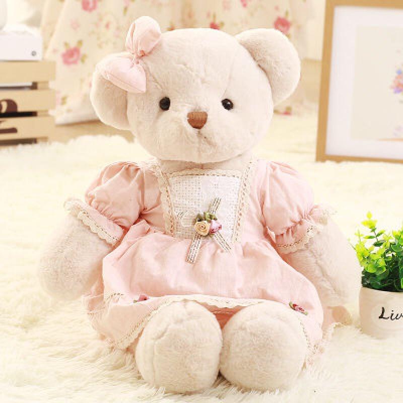 可爱泰迪熊公仔抱抱熊小号裙子熊毛绒玩具儿童女孩送女友生日礼物 发货周期:一般在付款后2-90天左右发货,具体发货时间请以与客服协商的时间为准
