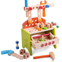 男孩益智过家家螺母积木拼装 儿童维修工具台玩具木制工具箱