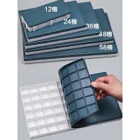 颜料盒调色盒24格水粉水彩颜料盒便携式油画调色板盒36格48格透明调色盘