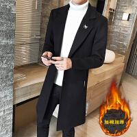 风衣男士中长款秋冬新品韩版加厚外套毛呢子大衣潮流外衣装