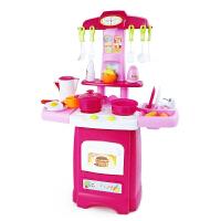 女孩厨房做饭玩具 带声效灯光厨具套装儿童过家家玩具