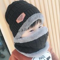 儿童帽子潮童秋冬男童保暖帽父子帽加绒护耳帽女童围巾东北防寒帽 均码 3-12岁