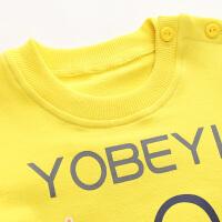 男童女童运动服 婴儿肩扣款春装 儿童卫衣套装春秋季