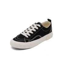 WARORWAR 法国新品138-CH-8092四季休闲平底舒适高品质女帆布鞋