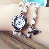 韩版女士手表潮流学生情侣手链表珠子手链带腕表