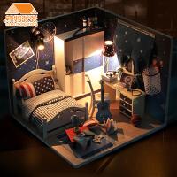 diy小屋带你看星星手工制作拼装小房子模型别墅女生创意生日礼物