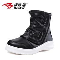 彼得潘童鞋 男童马丁靴儿童休闲时尚潮鞋中邦冬季保暖靴P916