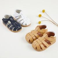 宝宝凉鞋1-3岁男童包头夏季软底防滑透气婴儿鞋女宝宝鞋子