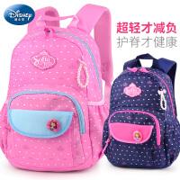 迪士尼小学生书包女童1-3-4年级女孩休闲背包儿童双肩包6-12周岁