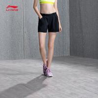 李宁运动短裤女士2018新款训练系列训练裤短装夏季运动裤AKYN008