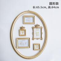 创意欧式皇冠金色树脂挂墙相框摆台四寸67寸简约画框 原创设计