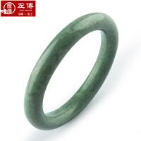 左传 圆条复古贵州玉手镯 玉石手镯 经典圆形手镯